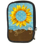 Sunflower camera case - Compact Camera Leather Case