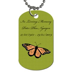 Green With Blue Swirls Dog Tag By Jena   Dog Tag (two Sides)   Nmqv6d963i06   Www Artscow Com Back