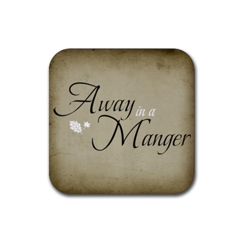 Away In A Manger Coaster By Jorge   Rubber Coaster (square)   Kjgdmfb7k0pd   Www Artscow Com Front