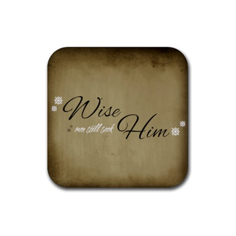 Wise Men Seek Him Coaster By Jorge   Rubber Coaster (square)   Ctu648ruemt6   Www Artscow Com Front