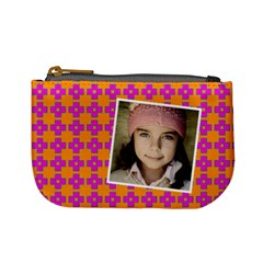 Casual  Purse Bleeding Eyes Orange Purple By Jorge   Mini Coin Purse   9zj4wgph4xbu   Www Artscow Com Front