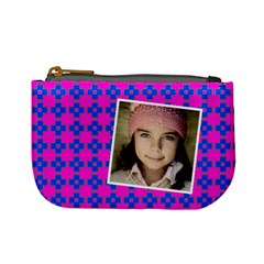 Casual  Purse Bleeding Eyes Blue Pink By Jorge   Mini Coin Purse   9z5res217zv5   Www Artscow Com Front