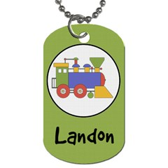 Train Dog Tag By Klh   Dog Tag (two Sides)   Oth664fr3lwc   Www Artscow Com Front