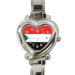 Flag_Sudan Heart Italian Charm Watch