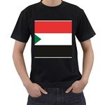 Flag_Sudan Black T-Shirt (Two Sides)