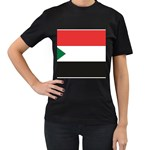 Flag_Sudan Women s Black T-Shirt (Two Sides)