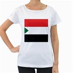 Flag_Sudan Maternity White T-Shirt