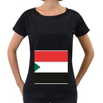Flag_Sudan Maternity Black T-Shirt