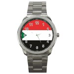 Flag_Sudan Sport Metal Watch