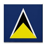 Flag_St lucia Tile Coaster