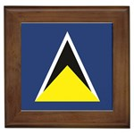Flag_St lucia Framed Tile