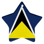 Flag_St lucia Ornament (Star)