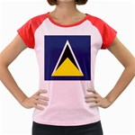 Flag_St lucia Women s Cap Sleeve T-Shirt