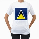 Flag_St lucia Women s T-Shirt