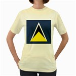 Flag_St lucia Women s Yellow T-Shirt
