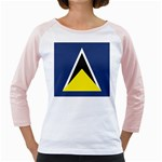 Flag_St lucia Girly Raglan