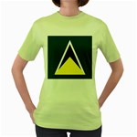 Flag_St lucia Women s Green T-Shirt