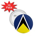 Flag_St lucia 1.75  Button (10 pack)