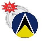 Flag_St lucia 2.25  Button (10 pack)