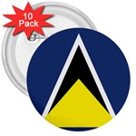 Flag_St lucia 3  Button (10 pack)