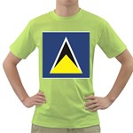 Flag_St lucia Green T-Shirt