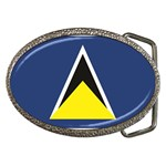 Flag_St lucia Belt Buckle