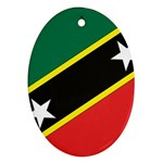 Flag_St chistopher nevis Ornament (Oval)