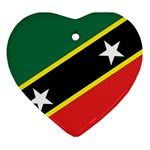 Flag_St chistopher nevis Ornament (Heart)