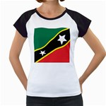 Flag_St chistopher nevis Women s Cap Sleeve T