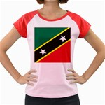 Flag_St chistopher nevis Women s Cap Sleeve T-Shirt
