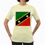 Flag_St chistopher nevis Women s Yellow T-Shirt