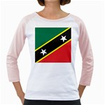 Flag_St chistopher nevis Girly Raglan