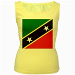 Flag_St chistopher nevis Women s Yellow Tank Top