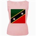 Flag_St chistopher nevis Women s Pink Tank Top