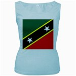 Flag_St chistopher nevis Women s Baby Blue Tank Top