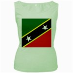 Flag_St chistopher nevis Women s Green Tank Top
