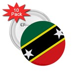 Flag_St chistopher nevis 2.25  Button (10 pack)