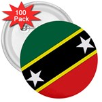 Flag_St chistopher nevis 3  Button (100 pack)