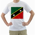 Flag_St chistopher nevis White T-Shirt