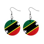 Flag_St chistopher nevis 1  Button Earrings