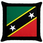 Flag_St chistopher nevis Throw Pillow Case (Black)
