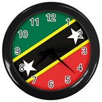 Flag_St chistopher nevis Wall Clock (Black)