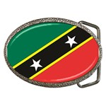 Flag_St chistopher nevis Belt Buckle
