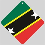 Flag_St chistopher nevis Car Window Sign