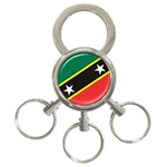 Flag_St chistopher nevis 3-Ring Key Chain