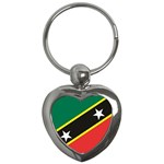 Flag_St chistopher nevis Key Chain (Heart)