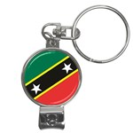 Flag_St chistopher nevis Nail Clippers Key Chain