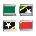 Flag_St chistopher nevis 9mm Italian Charm (4 pack)
