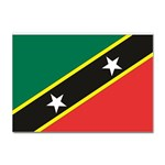 Flag_St chistopher nevis Sticker (A4)