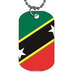 Flag_St chistopher nevis Dog Tag (One Side)
